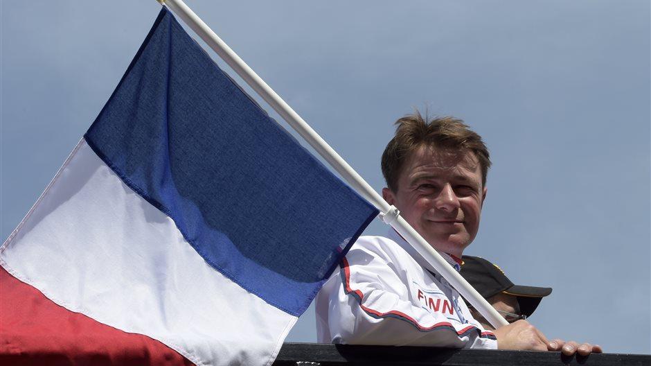 FRANCK NIVARD MED FRANSK FLAGGA.JPG